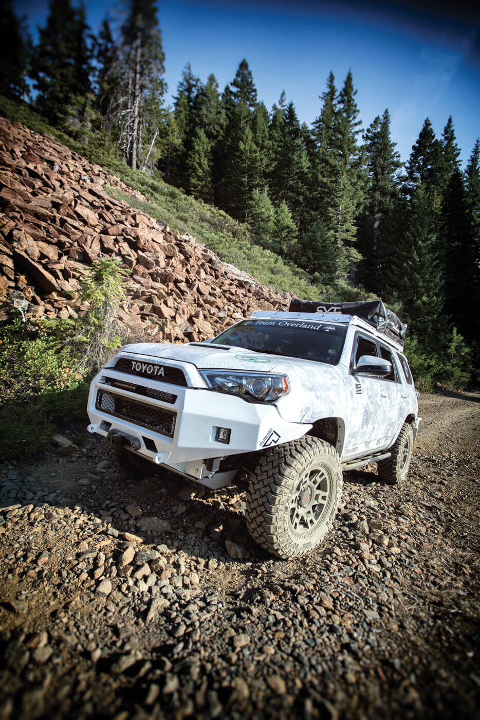 The 4Runner's Multi-terrain Select Drive-mode system makes it easy to dial in the right amount of traction and engine response for differing surfaces.