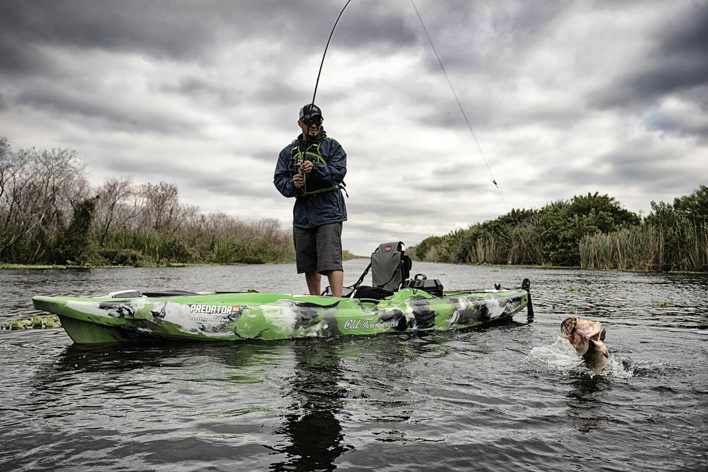 Big-lake anglers need a craft that will get you through the most challenging environments. Jackson Kayak's Kraken 15.5 is shaped to handle big water and get on big fish.
