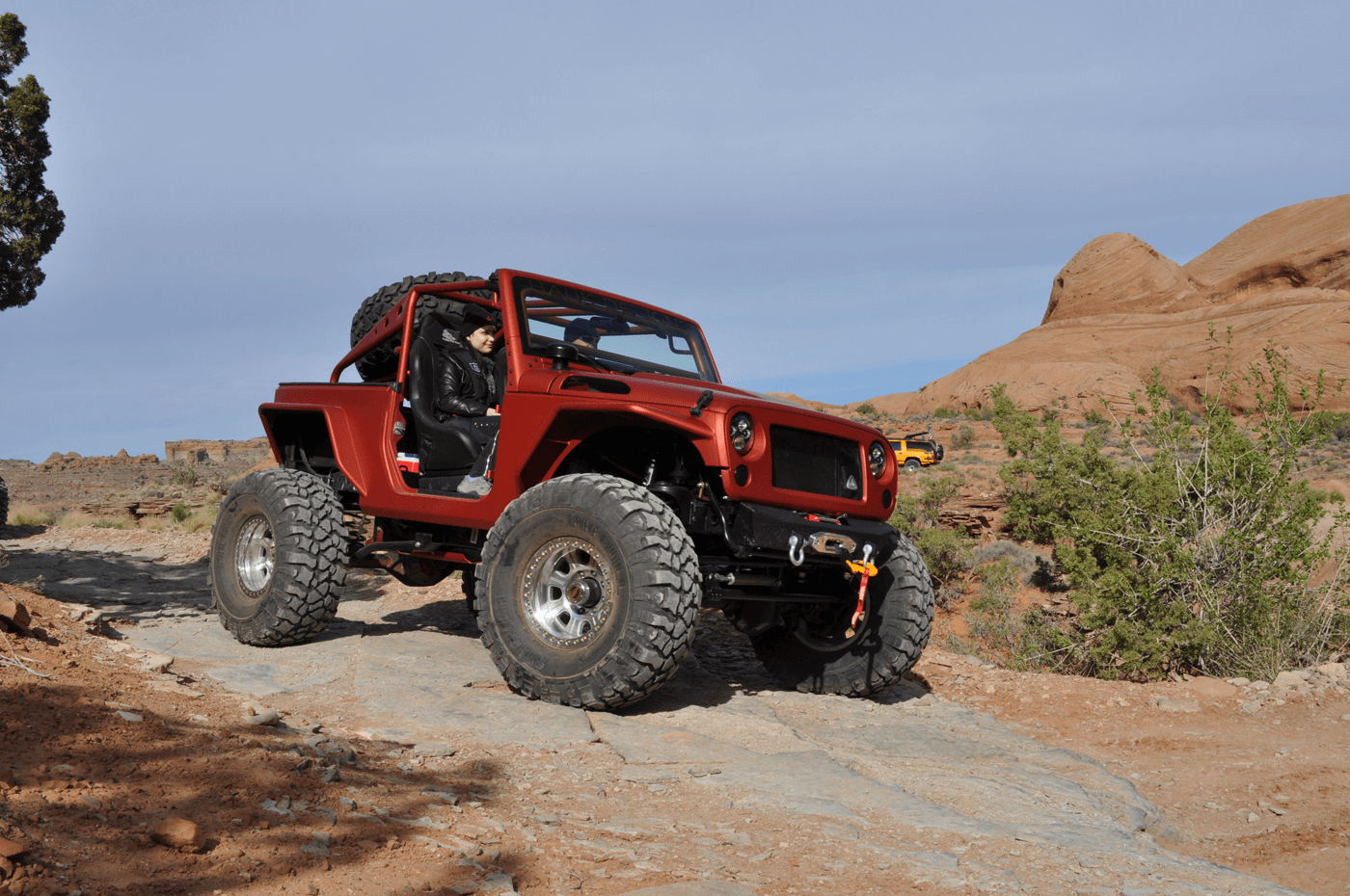 The Wheel Package On This Jeep Is Suited For Rock Crawling As The Smaller  Wheel And Larger Tire Allow The Tire To Flex And Better Grip The Terrain.