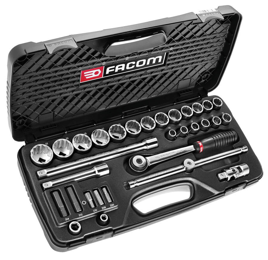 Quality tools, such as this socket set by Facom, can be found on online auction websites for considerable savings.