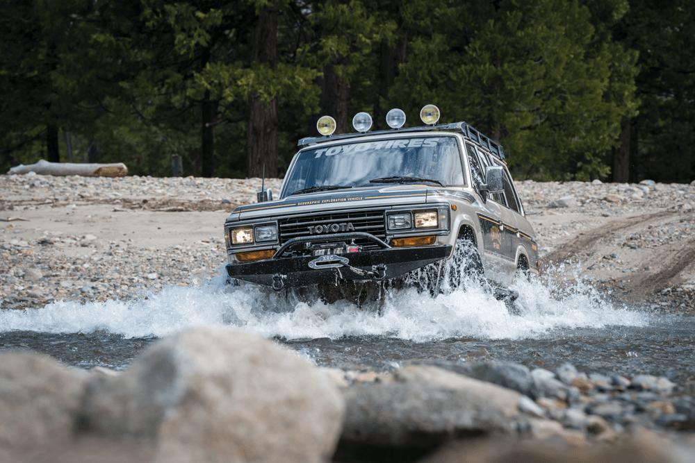 driving through water