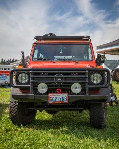 Toyo Tires Trailpass:  red Mercedes G wagon