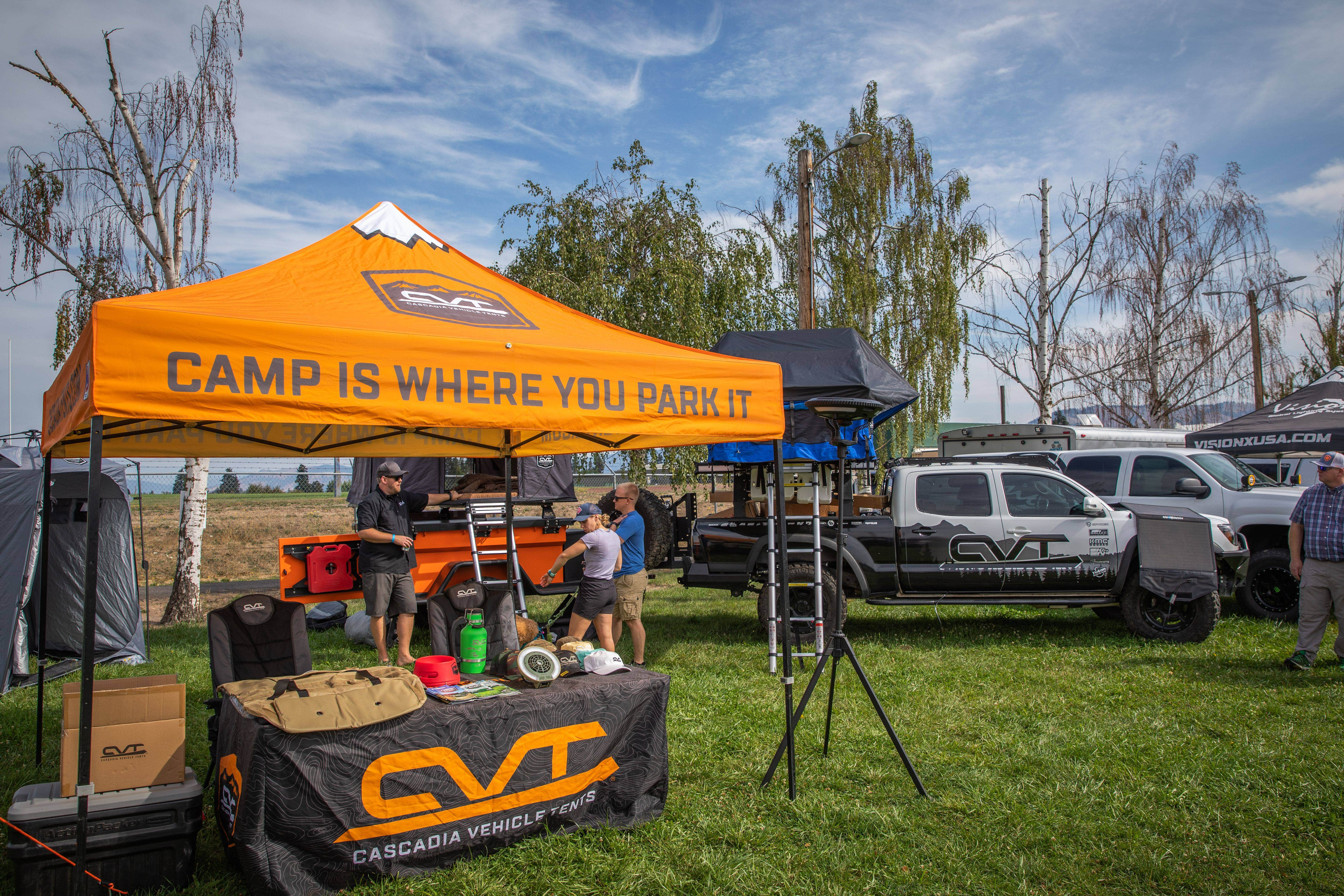 Toyo Tires Trailpass: Cascadia Vehicle Tents booth