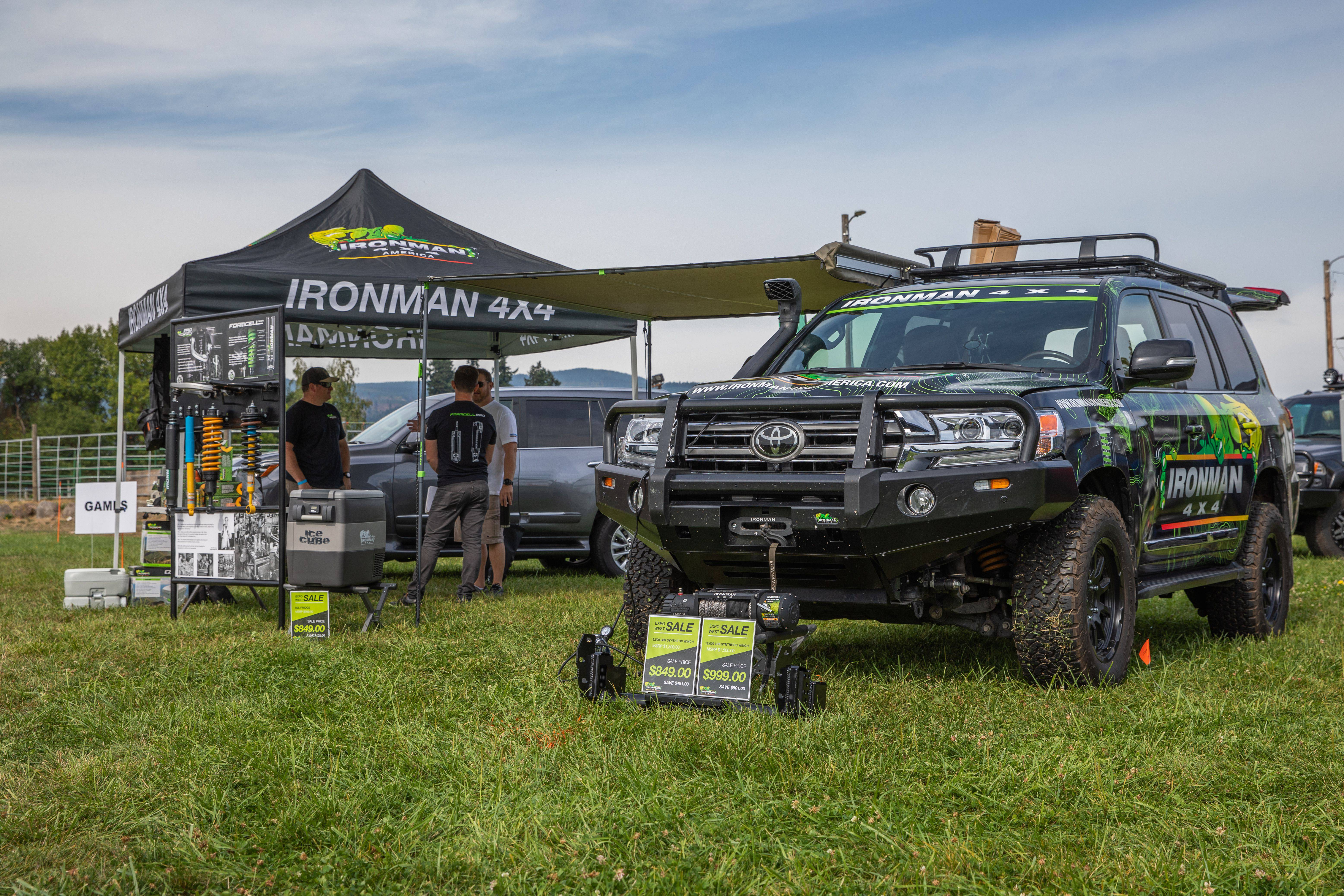 Toyo Tires Trailpass: Ironman 4x4 booth with gear displayed