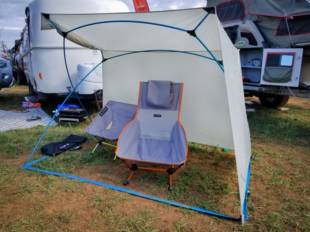 2019 Overland Expo East: Helinox Royal Box shade unit and Helinox chairs
