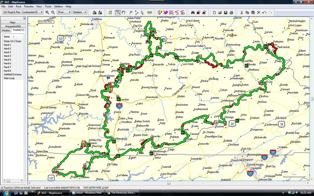 Kentucky Adventure Trail Jeep Map