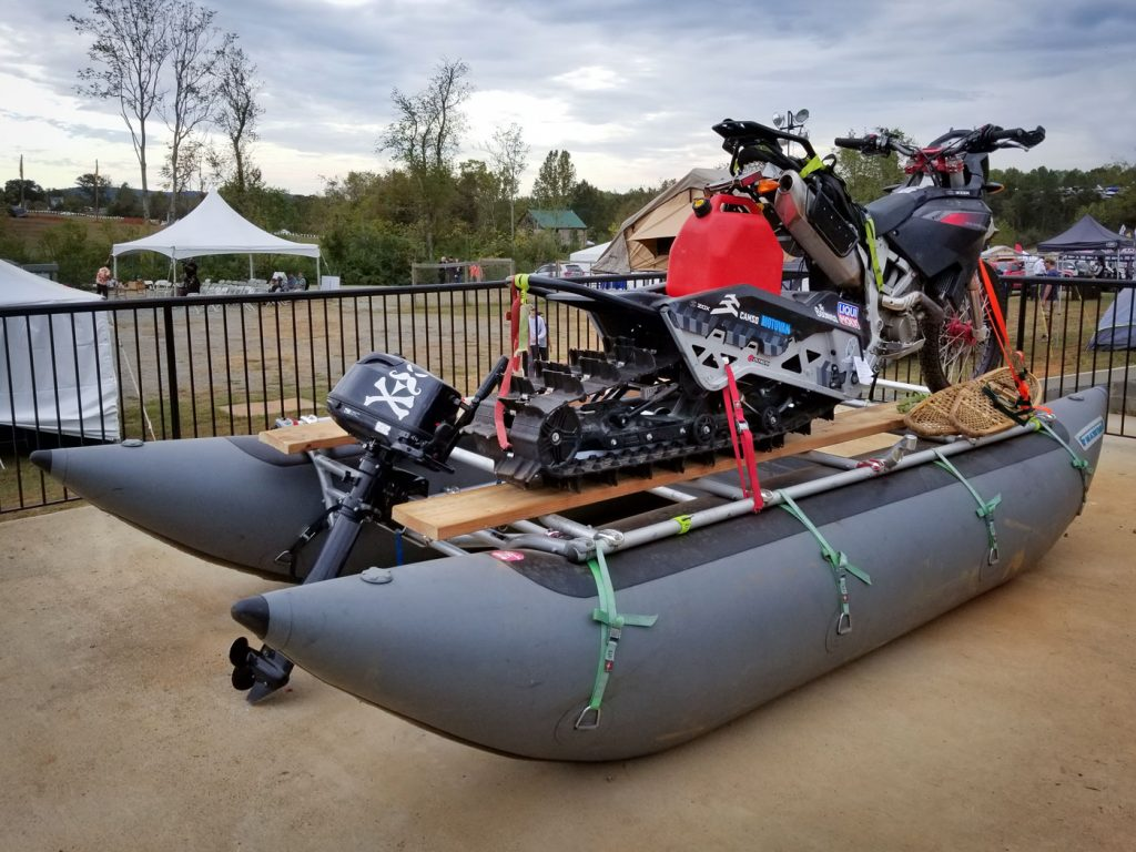 Tracked-motorbike-on-boat-trailer