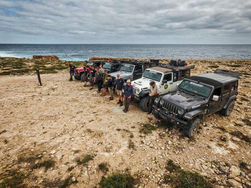 Five Jeep Convoy Crossing Australia