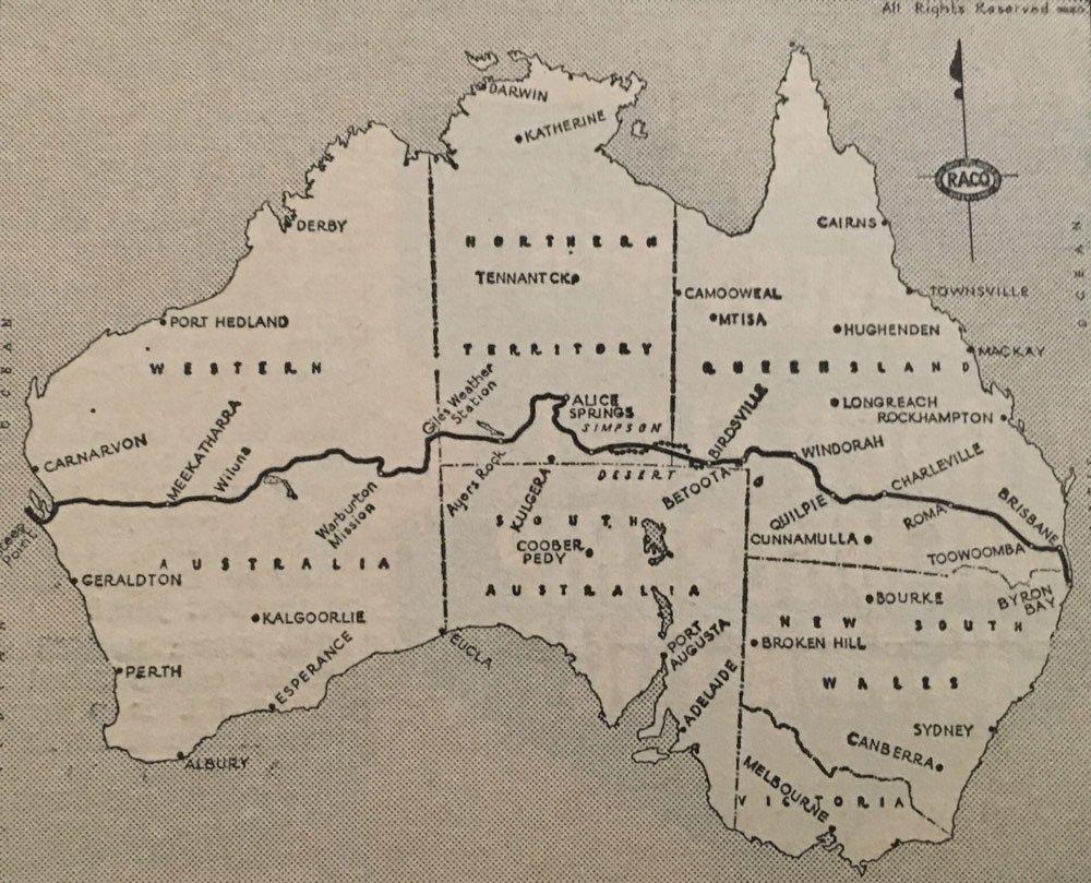 Old Map Australia