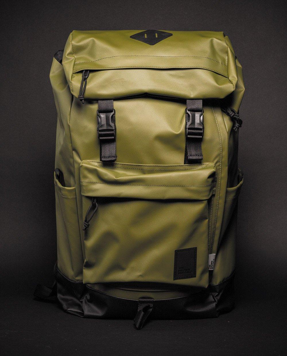 Brown Buffalo Hillside backpack green front