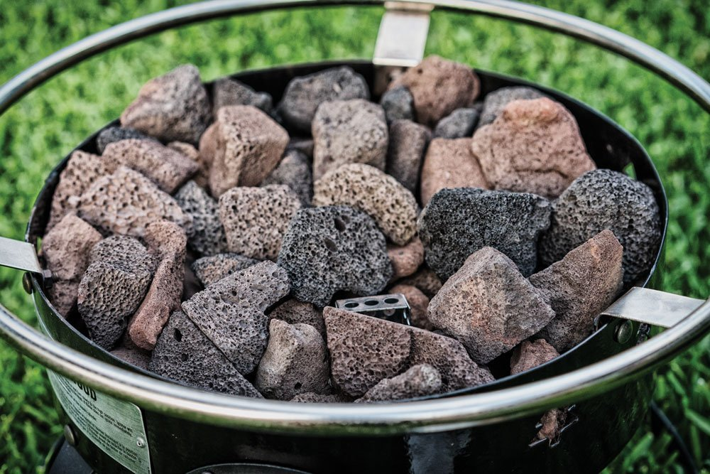 Camp Chef Redwood Portable Fire Pit Lava Rocks