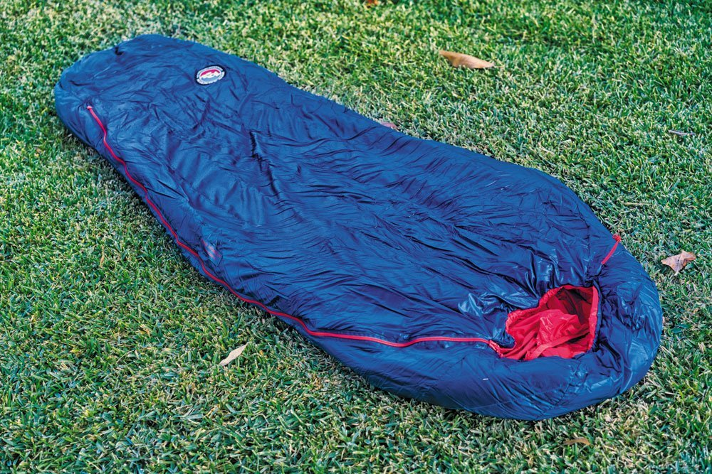 Big Agnes Anvil Horn blue 0 degrees F with sleeping pad