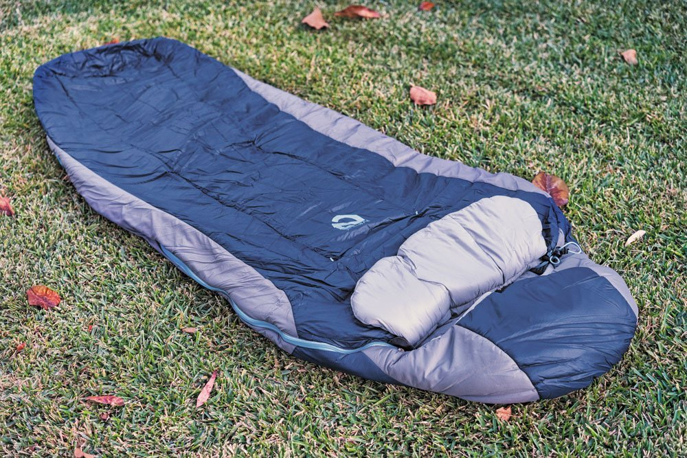 NEMO Forte blue and purple sleeping bag