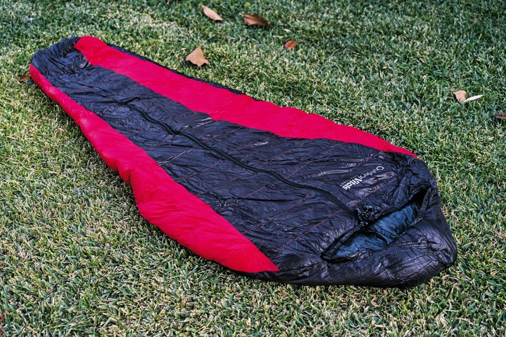 Outdoor Vitals Hybrid sleeping bag red and black