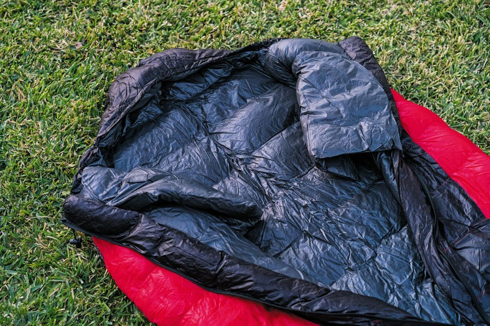 Outdoor Vitals Hybrid LoftTek Hybrid winter sleeping bag open