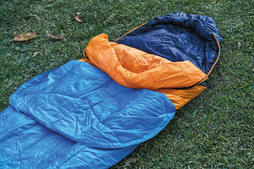 North Face The One Bag blue orange winter sleeping bag