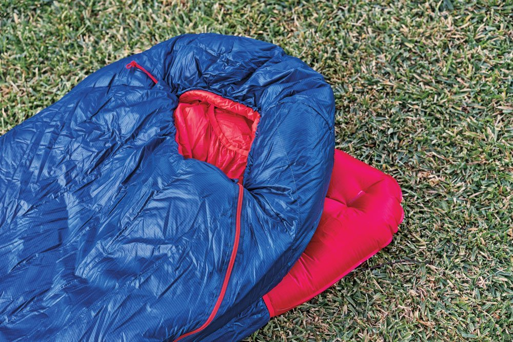 Big Agnes Anvil Horn winter sleeping bag with sleeping pad