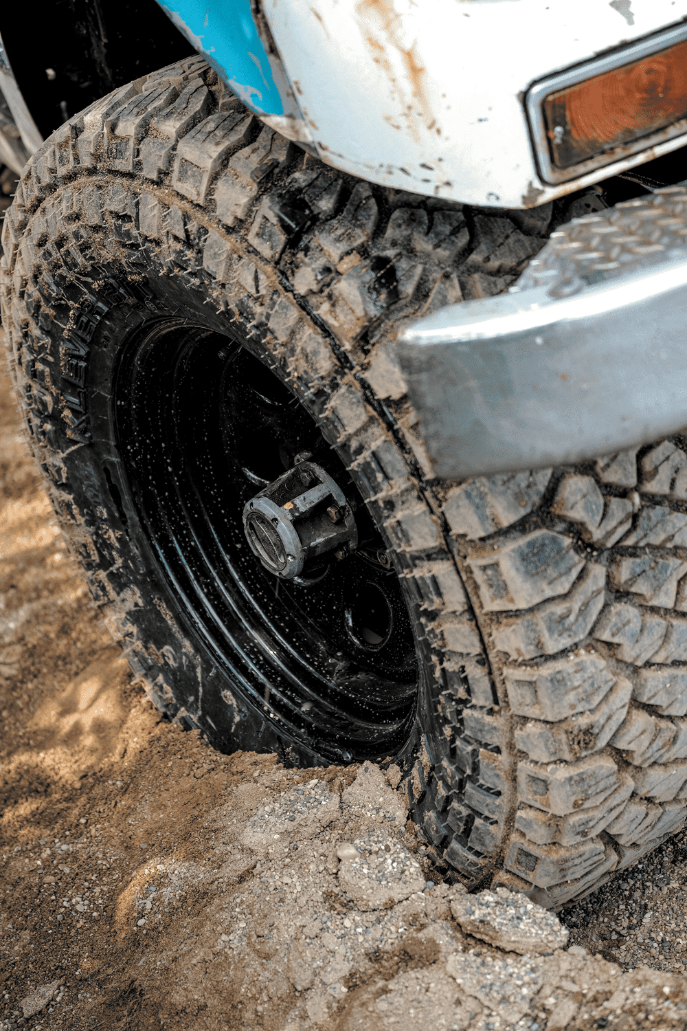 Off-Road Tire in the Mud