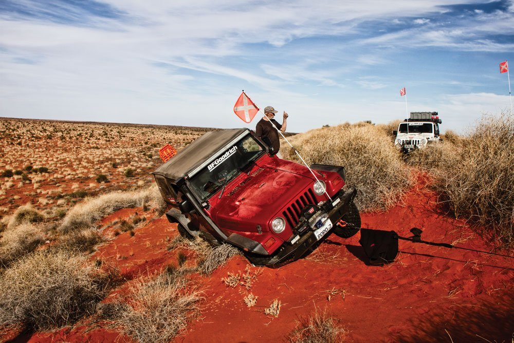 Jeep stuck in Australian desert