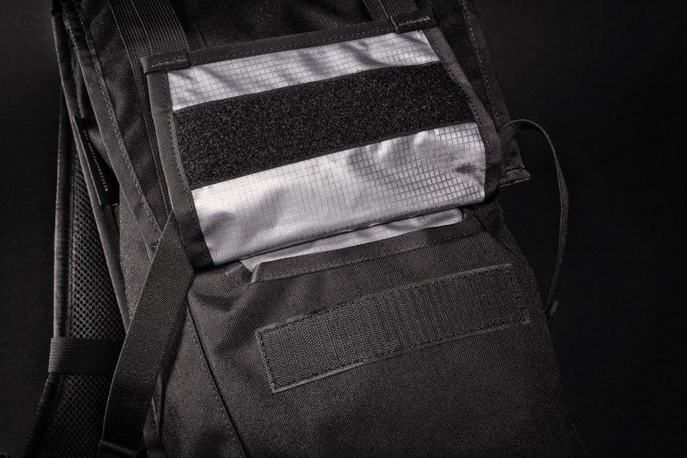 Mission Workshop The Fraction velcro pocket