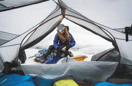 Winter camping in Juneau Icefiels, Alaska
