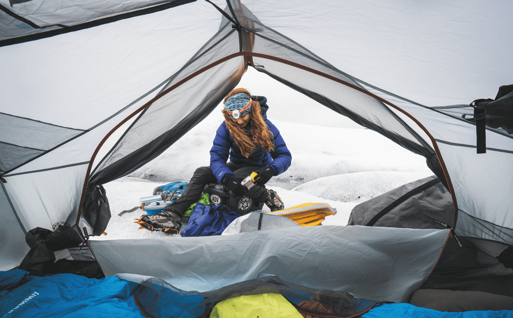 Winter camping in Juneau Icefiels, Alaska