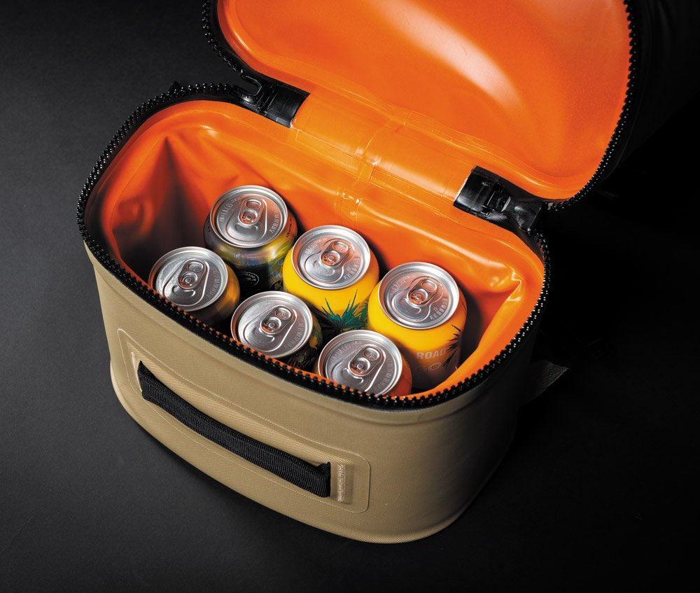Pelican Dayventure Backpack Cooler inside fits six cans
