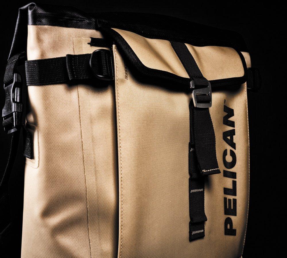 Pelican Dayventure Backpack Cooler gold front pocket