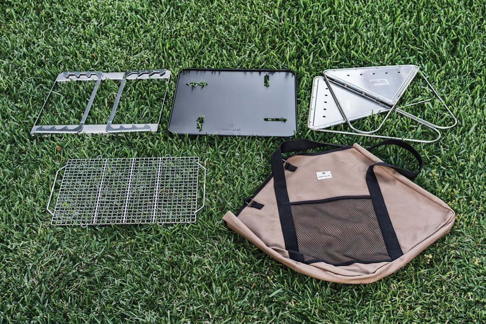 Snow Peak Pack & Carry Fireplace Kit Disassembled