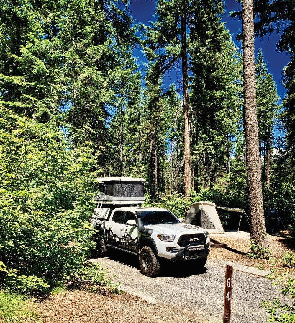Toyota Tacoma Northwest Overland Rally campsite