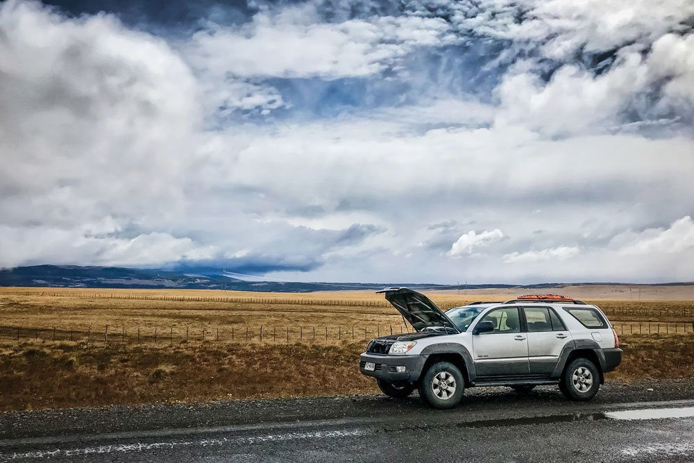 Overland Adventure Car Trouble in the 4Runner