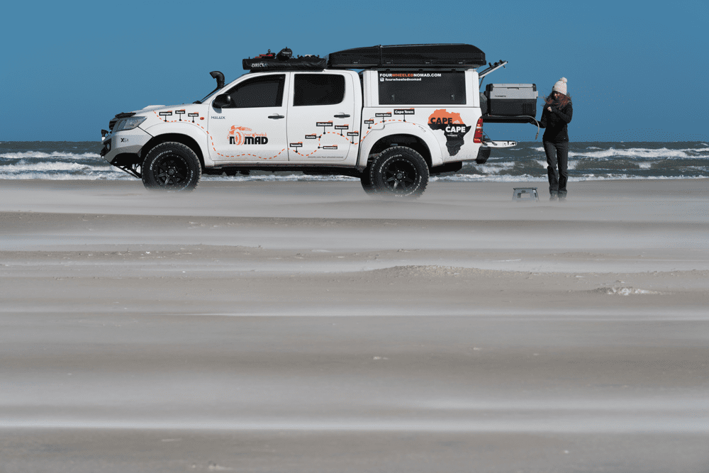 Toyota Hilux 4WD camping journey in Hirtshals, Denmark