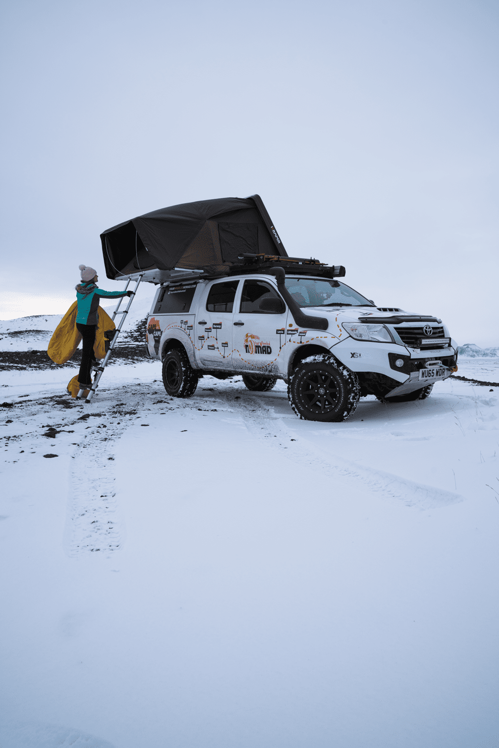 Toyota Hilux during 4WD camping journey
