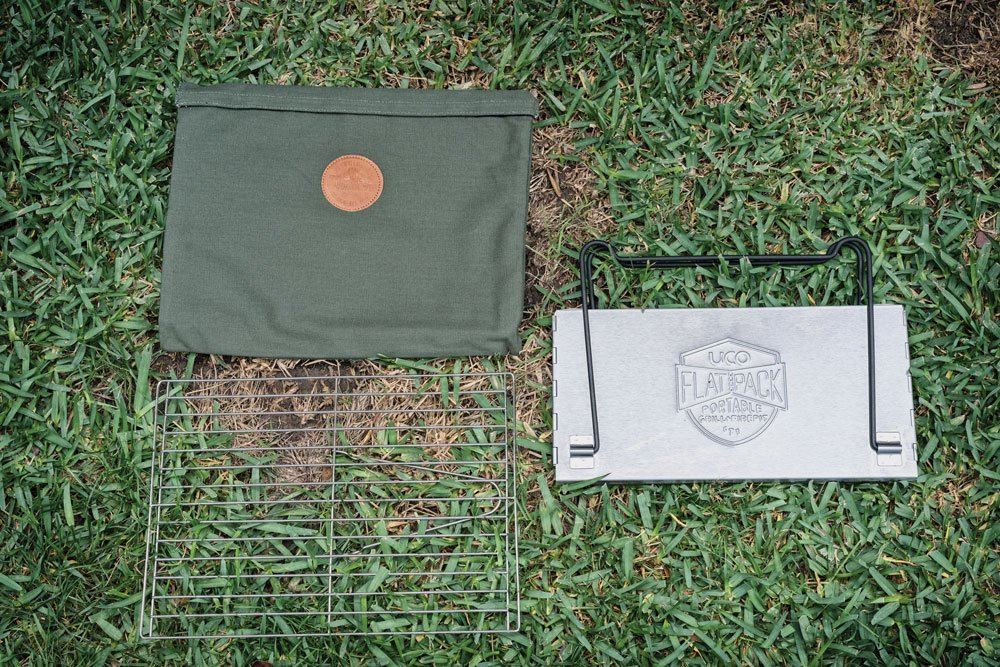 UCO FlatPack Grill and Firepit Disassembled