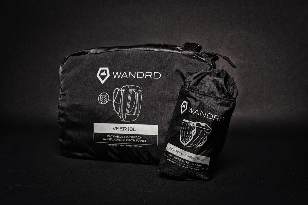 Wandrd VEER packable backpack black front