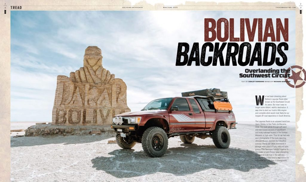 TREAD May/June 2020 Bolivian Backroads preview