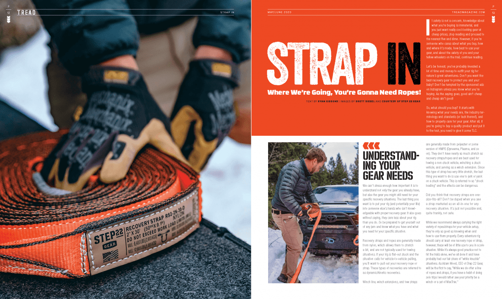 TREAD May/June 2020 Strap In preview