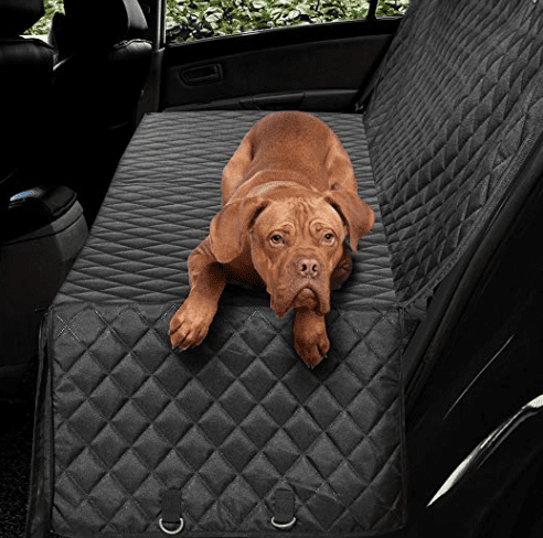 black quilted backseat cover for dogs // tread magazine