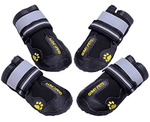 reflective, non-slip outdoor dog booties in camping essentials for dogs // tread magazine