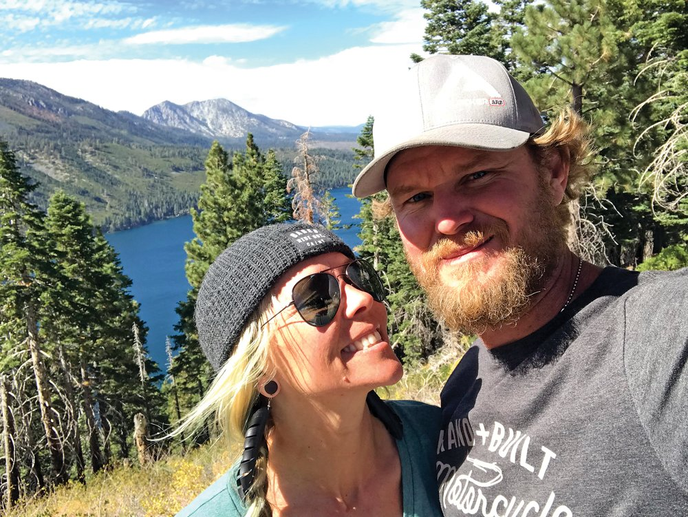 Jessi Combs and Terry Madden Lake Tahoe