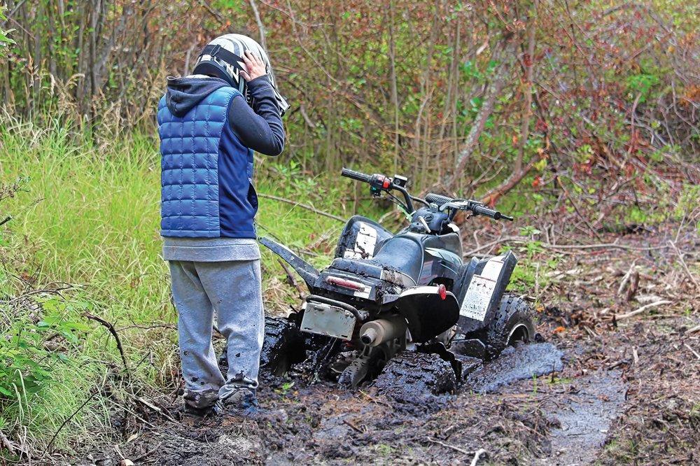 Off-road rider stranded