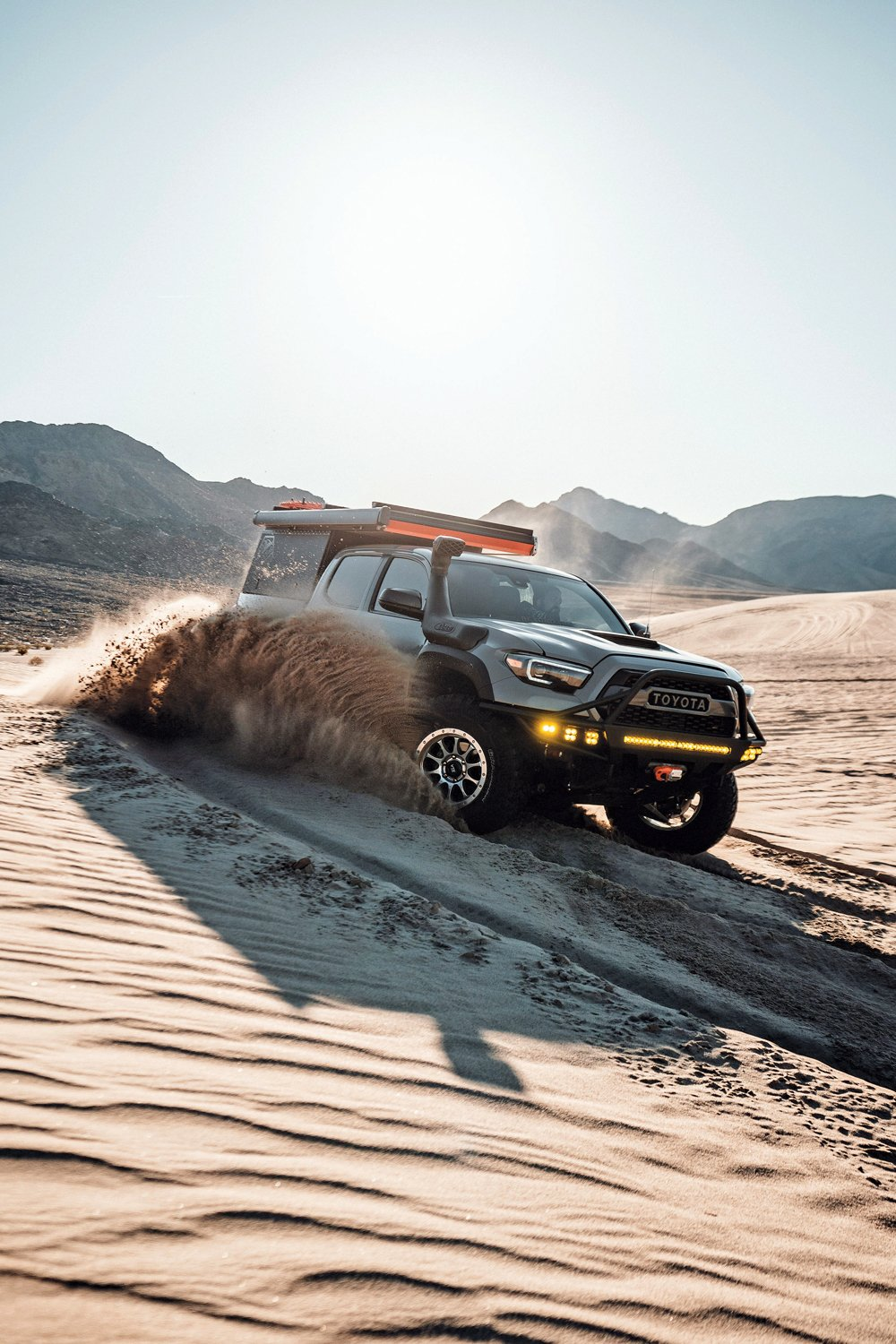 Toyota Tacoma TRD Off-Road driving in sand