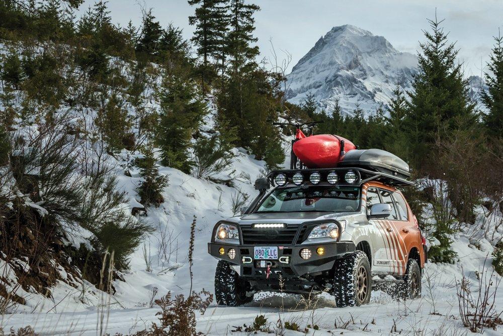 Lexus GX460 in the snow
