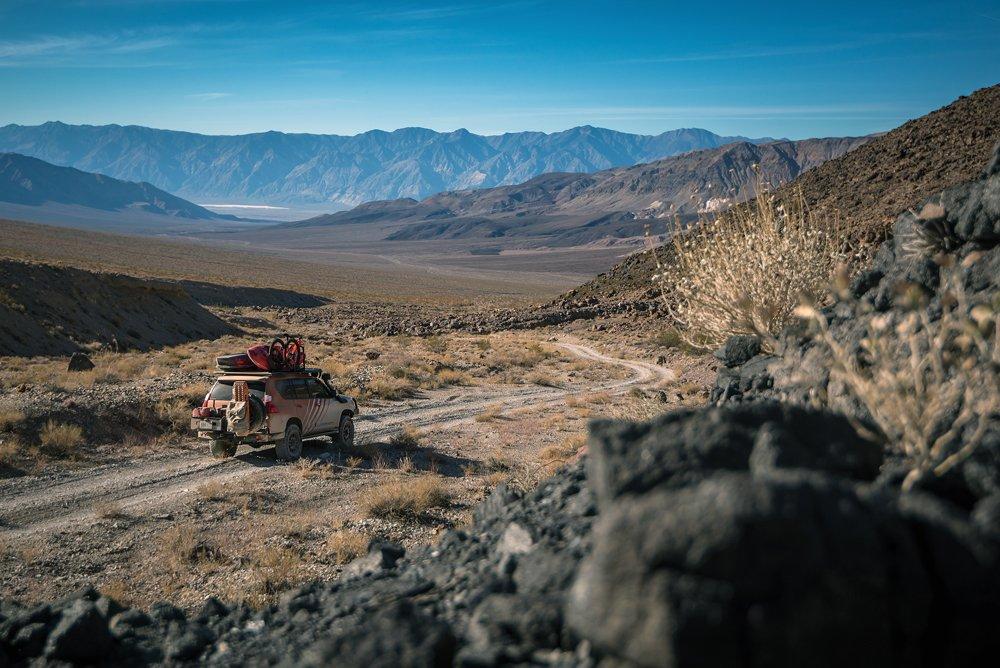 Lexus GX460 driving in the desert