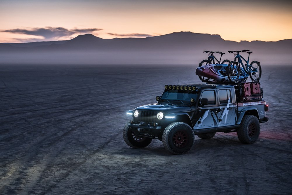 Jeep Gladiator at dusk