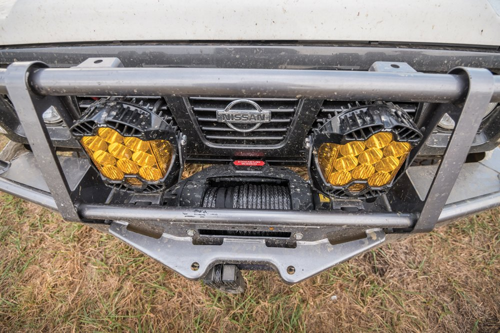 Comeup winch and Baja Designs LP9 lights