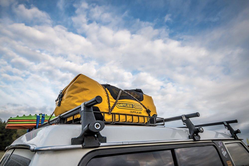 Yakima rack with Ortlieb waterproof duffel