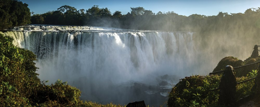 Lumangwe Waterfall in Zambia