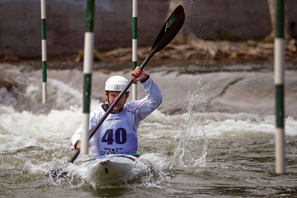 Olympic slalom kayaking