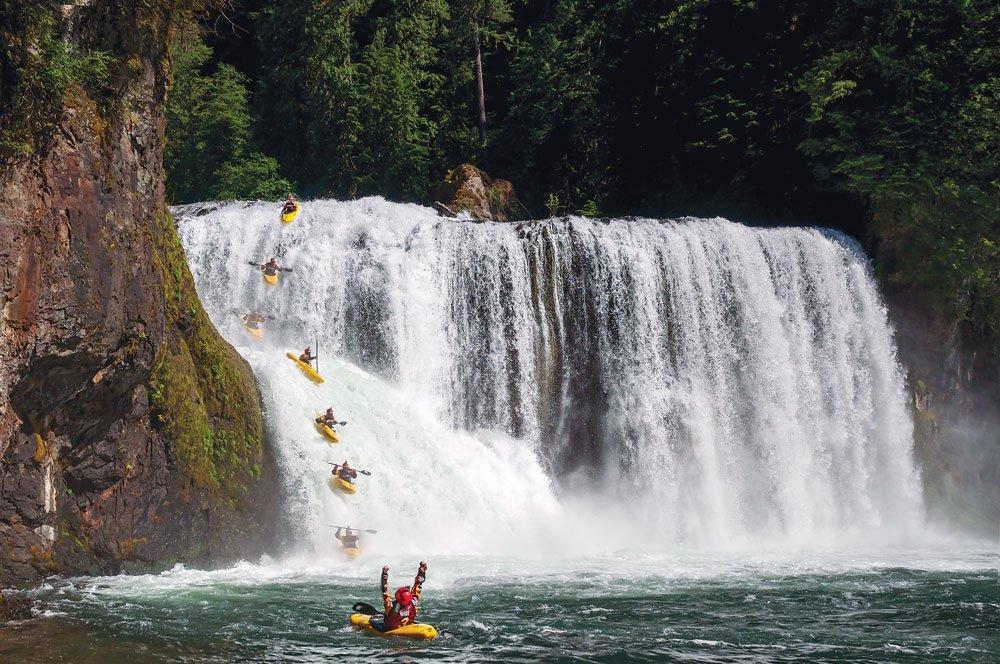 Whitewater kayaking team